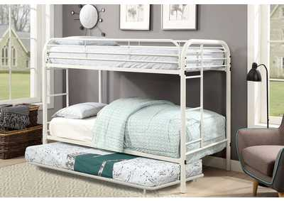 Opal White Metal Trundle
