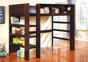 Annemarie Espresso Twin Loft Bed