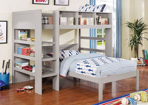 Annemarie Gray Twin Platform Bed,Furniture of America