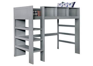 Annemarie Gray Twin Loft Bed