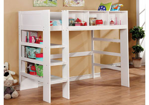 Annemarie White Twin Loft Bed