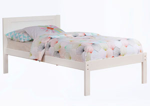Annemarie White Twin Platform Bed