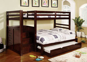 Pine Ridge Twin Bunk Bed w/Dresser and Mirror