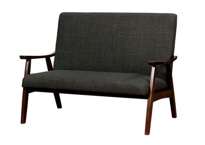 Deena Dark Gray Love Seat