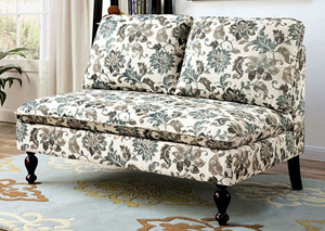 Image for Kenzie Floral Loveseat Bench