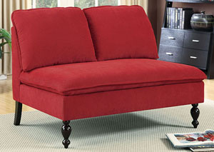 Kenzie Red Loveseat Bench