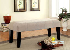 "Image for Bury 42"" Ivory Fabric Bench"