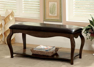 "Image for Enderby 45"" Padded Leatherette Seat Bench w/Open Shelf"