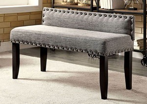 Herstal Gray Upholstered Small Bench