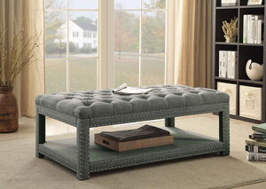 Einar Large Light Gray Bench