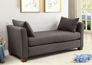 Enok Dark Gray Bench w/Pillows