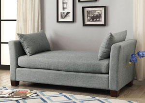 Enok Gray Bench w/Pillows