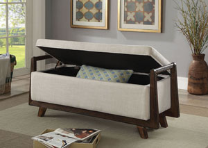 Finn Beige Storage Bench