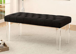 Image for Mahony Black Bench w/Acrylic Legs