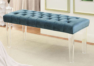 Image for Mahony Blue Bench w/Acrylic Legs