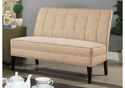 Deandra Beige Upholstered Accent Bench