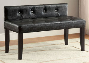 Galen Black Small Bench