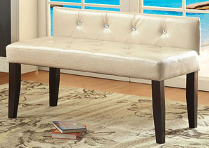 Galen Pearl White Small Bench