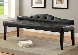 Calpas III Black Large Leatherette Bench