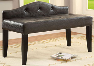 Calpas III Brown Small Leatherette Bench
