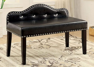 Gwenyth Black Small Bench