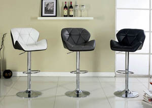 Laxis Gray Swivel Barstool w/Leatherette & Curved Back