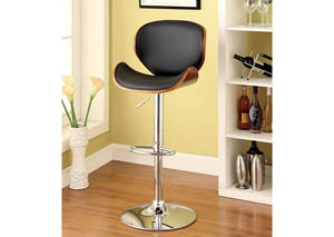 Belo Leatherette Seat & Curved Back Swivel Barstool