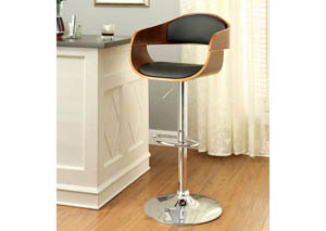 Boxil Leatherette Swivel Barstool w/Wooden Scoop Frame