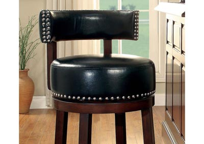 Shirley Black 30' Swivel Bar Stool (Set of 2)