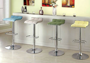 Bliss Ivory Swivel Barstool w/Fabric Seat & Adjustable Height