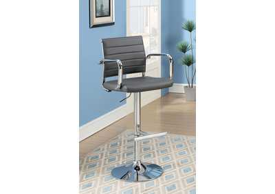 Sedona Gray Leatherette Swivel Bar Stool w/Adjustable Height