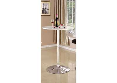 Image for Nessa White Bar Table