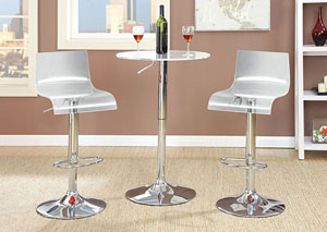 Trixy Clear Low Back Bar Chair (Set of 2)
