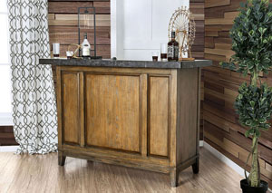 Buchanan Light Walnut Bar Table w/Celestitle Top