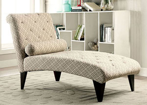 Sondra Fret Pattern Chaise w/Pillow