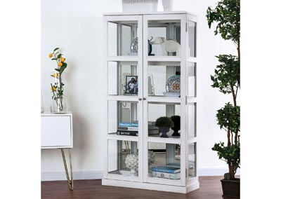 Image for Vilas White Curio Cabinet