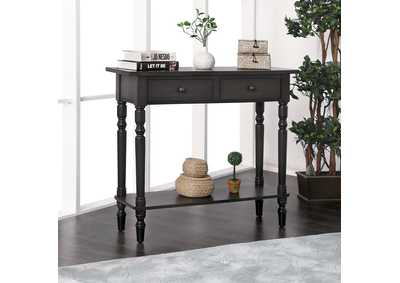 Calle Gray Server w/2 Drawers & Open Shelf
