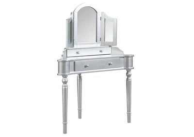 Image for Kasey Silver Vanity w/Stool