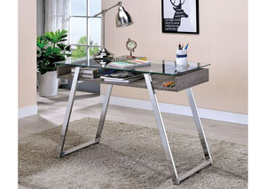 Ballybay Chrome Writing Desk