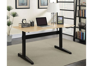Kilkee Black Adjustable Height Large Desk