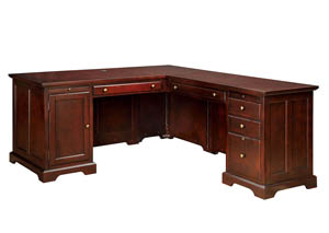 Desmont Cherry Corner Desk