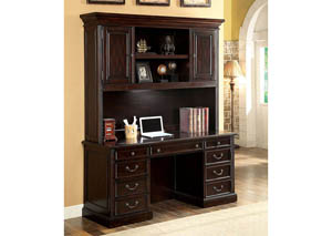 Coolidge Cherry Credenza Desk w/Hutch
