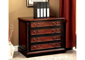 Strandburg Cherry & Black File Cabinet