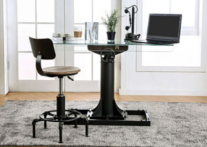 Anais Sand Black/Copper Lift Desk