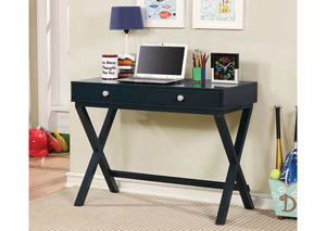 Conroe Blue Writing Desk