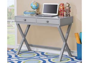 Conroe Gray Writing Desk