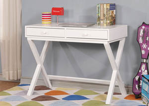 Conroe White Writing Desk