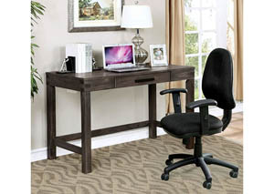 Kellis Wire-Brushed Dark Gray Writing Desk