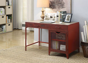 Gudmund Red Metal Desk