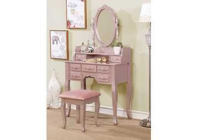 Harriet Rose Gold Vanity w/Stool